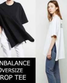 ★Prompt delivery★UNISEXTYPE★UNBALANCE OVERSIZE SIDE OPEN TEE