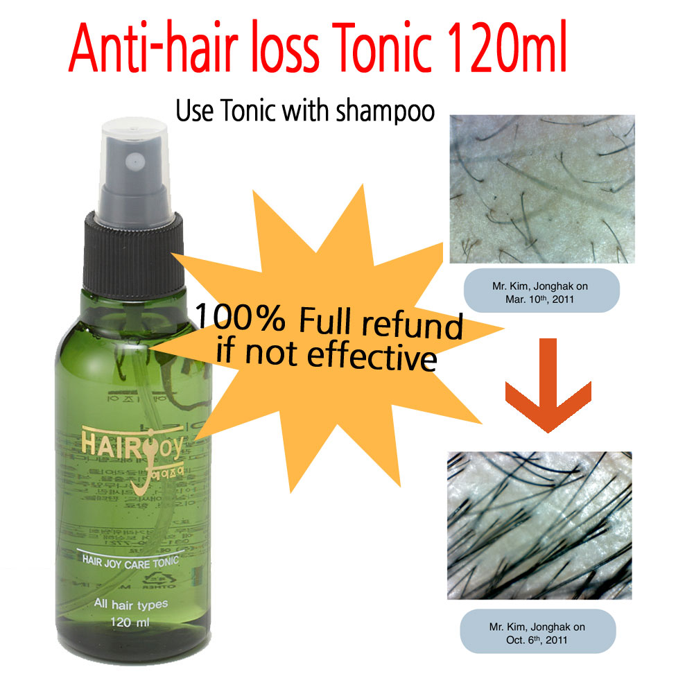 Anti-Hair Loss Care Tonic 120ml / 100% full refund if not ef