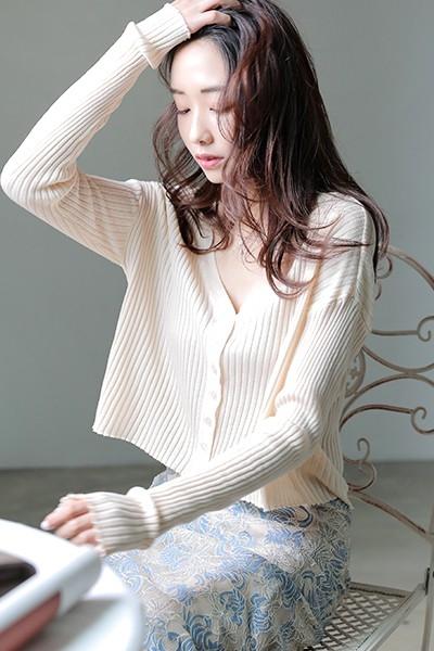 [Sezwick] ROU0697 simple golji cardigan