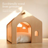 Pet House _Villa (Wood Frame + Fabric, Cushion not included)