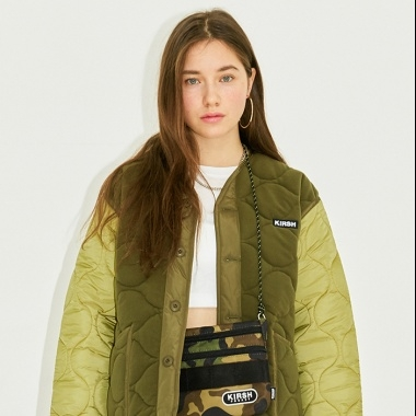 REVERSIBLE QULTED JACKET HS [KHAKI]