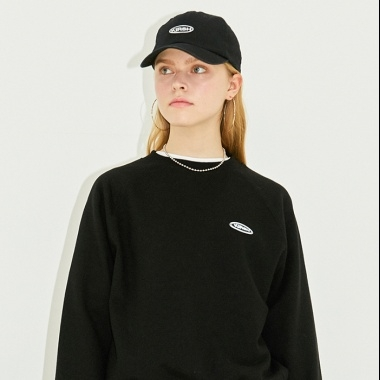 CIRCLE LOGO SWEATSHIRT HS [BLACK]