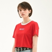 KIRSH GIRL CROPPED T-SHIRT HS [RED]