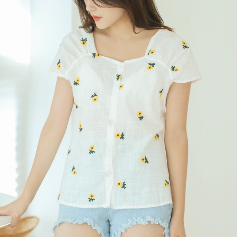 [COLORFULTITLE] Summer flower blouse