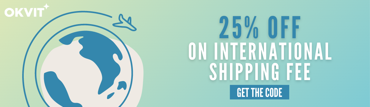 SHIPPING25 : 25% OFF ON INTERNATIONAL SHIPPING FEE
