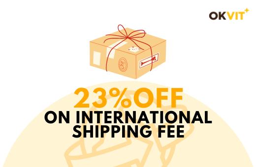 SHIP23 : 23% OFF ON INTERNATIONAL SHIPPING FEE