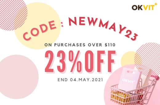 NEWMAY23 : 23% OFF ON PURCHASES OVER $110