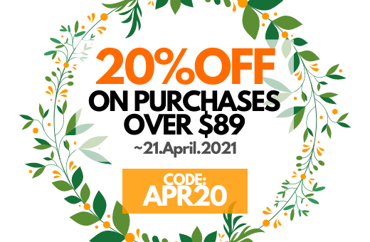 APR20 : 20% OFF ON PURCHASES OVER $89