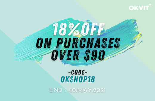 OKSHOP18 : 18% OFF ON PURCHASES OVER $90