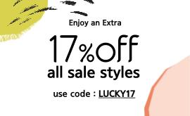 ENJOY AN EXTRA 17% OFF